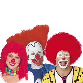 Red Clown Wigs