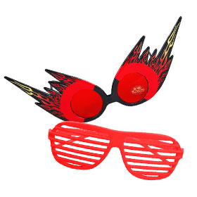 Red Costume Glasses