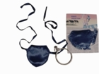Satin Eye Patch W/Earring