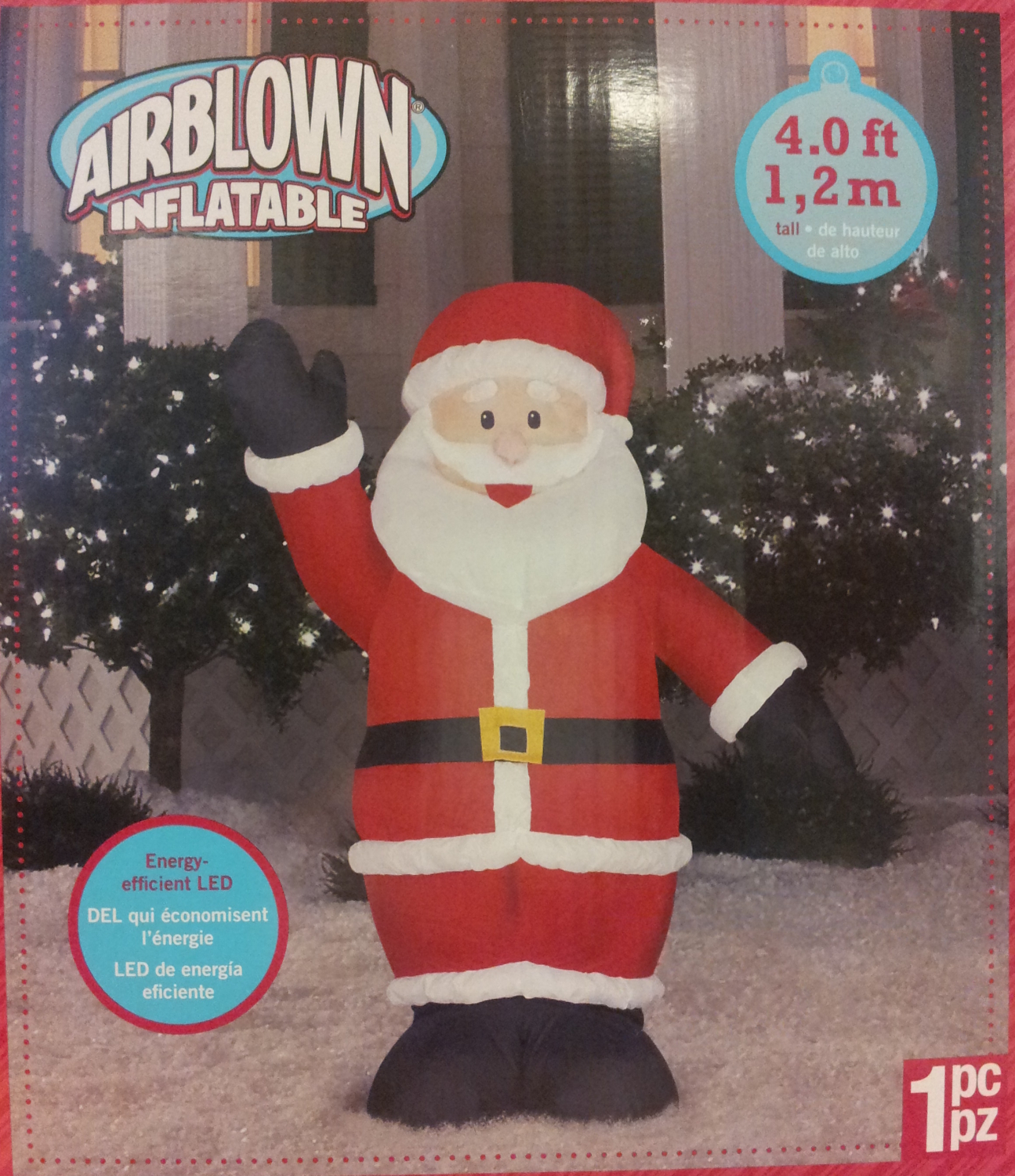 Small Airblown Outdoor Santa
