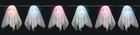 Small Puffy Ghosts Color Changing String of Lights