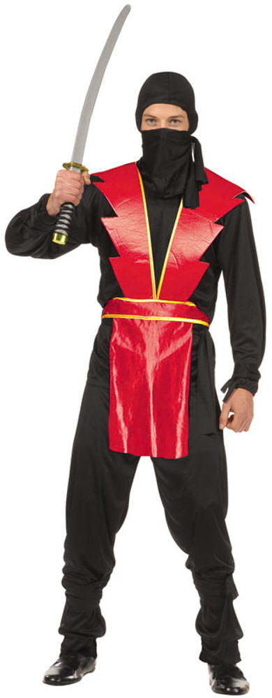 Teen Boys Red Ninja Master Costume