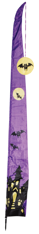 Telescopic Haunted House Flag