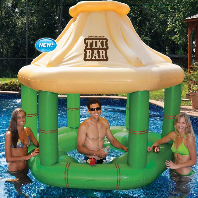 Tiki Bar Pool Float