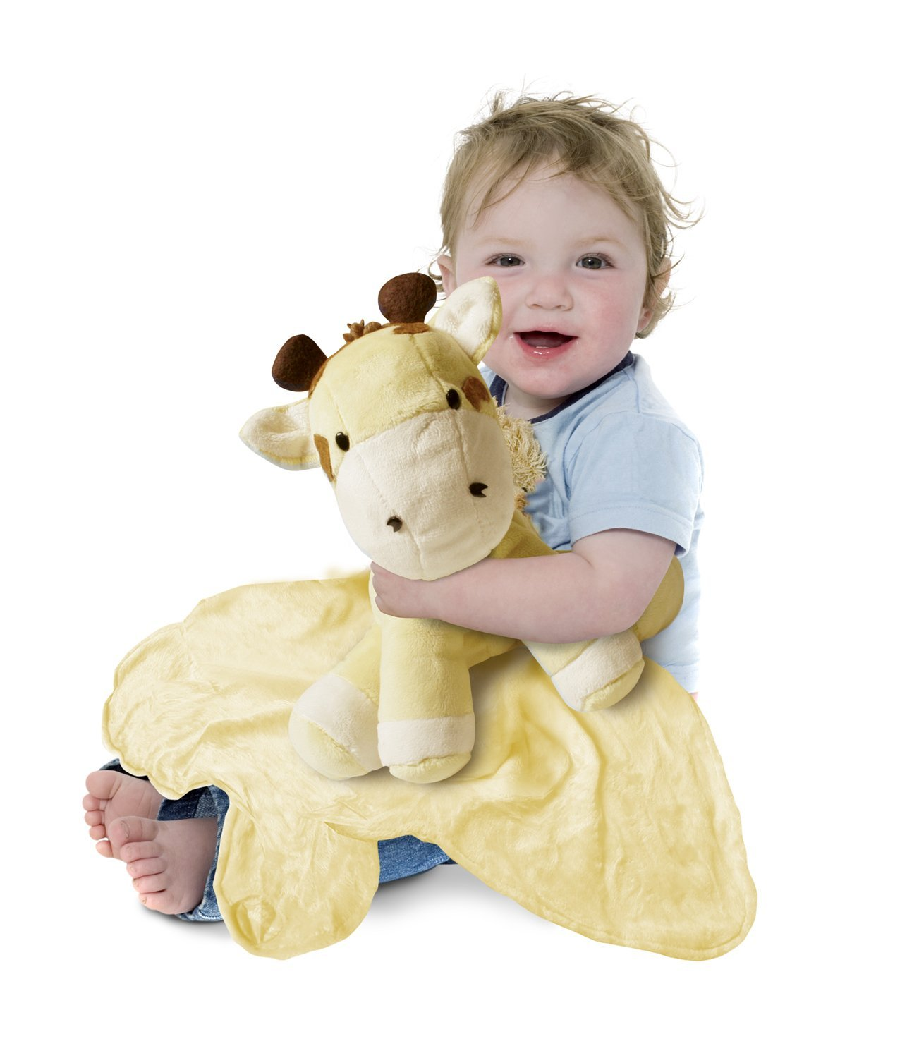 Tiny Wonders Large Cuddle Buddy Blanket: Patch Giraffe