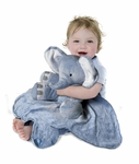 Tiny Wonders Large Cuddle Buddy Blanket: Peanut Elephant