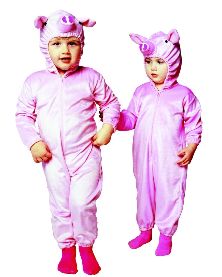 Toddler Pink Piggy Pajama Costume