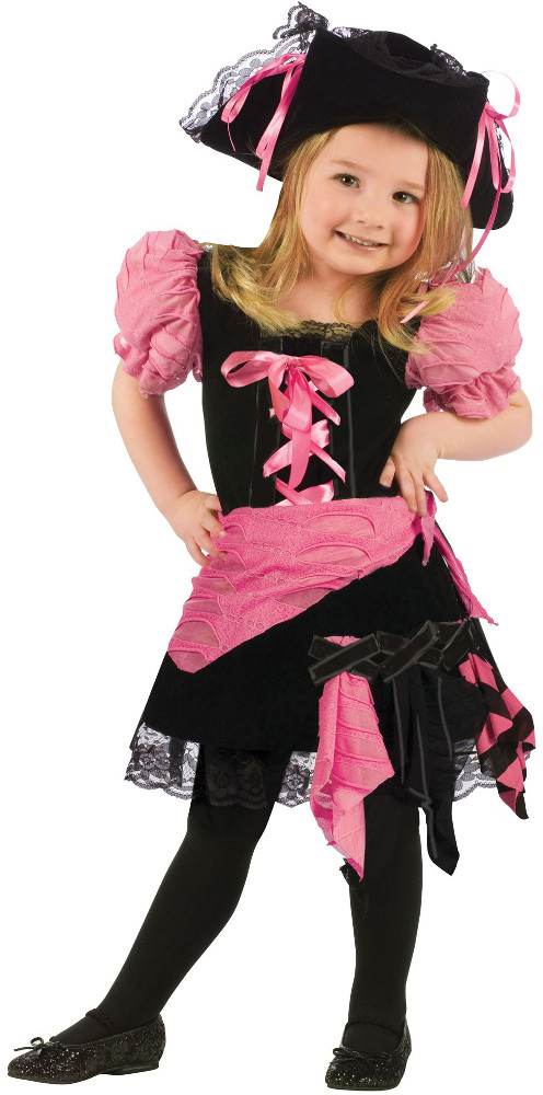 Toddler Pink Punk Pirate Costume