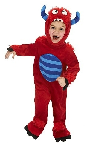 Toddler Red Monster Costume
