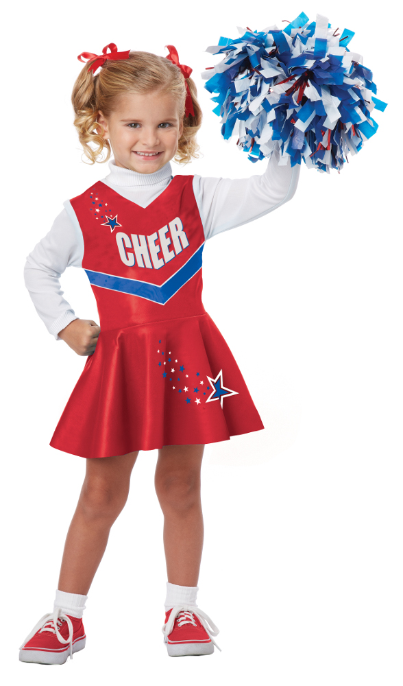 Toddler Classic Red Cheerleader Costume