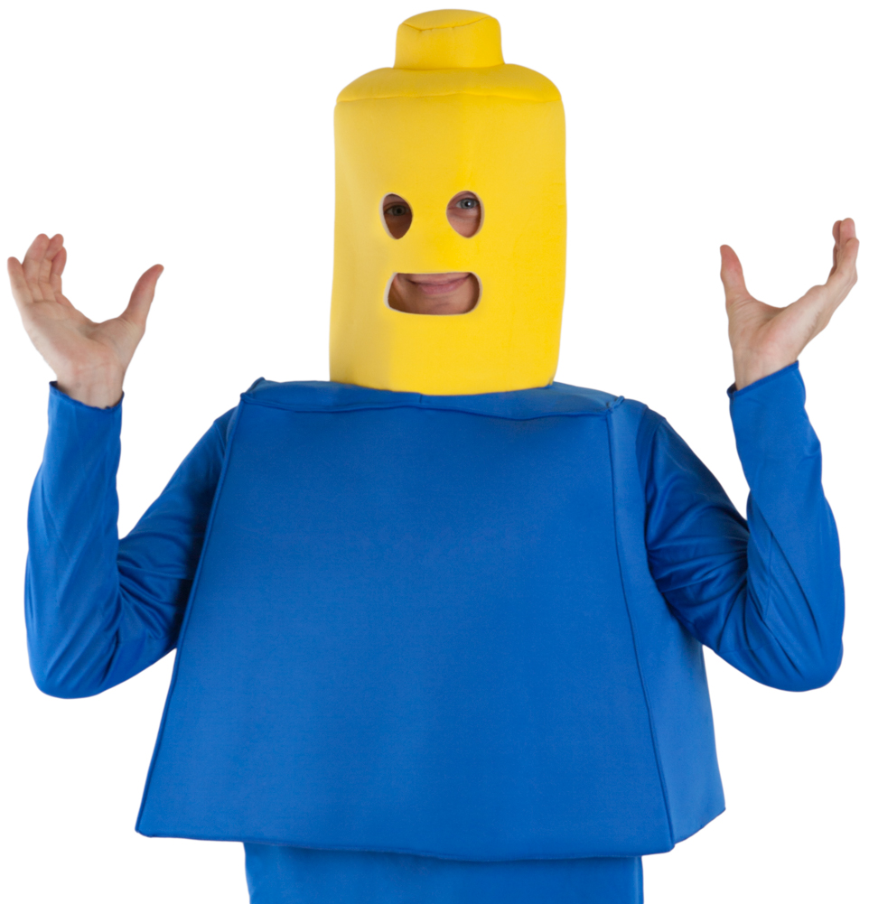 Toy Block Man Costume with Headpiece