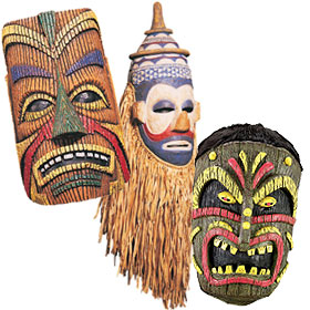 Tribal Tiki Masks