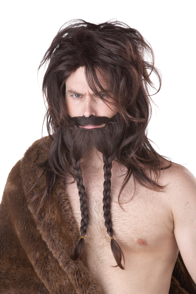 Viking Brown Wig, Beard & Moustache