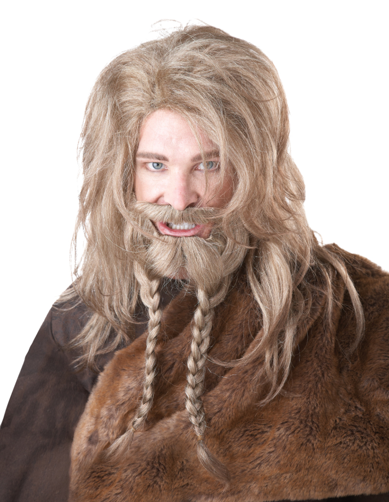 Viking Dirty Blonde Wig, Beard & Moustache
