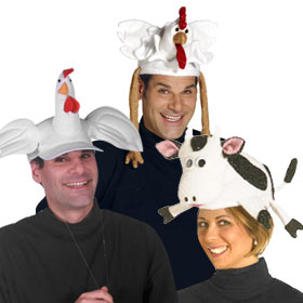 White Animal Hats