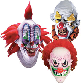 White Clown Masks
