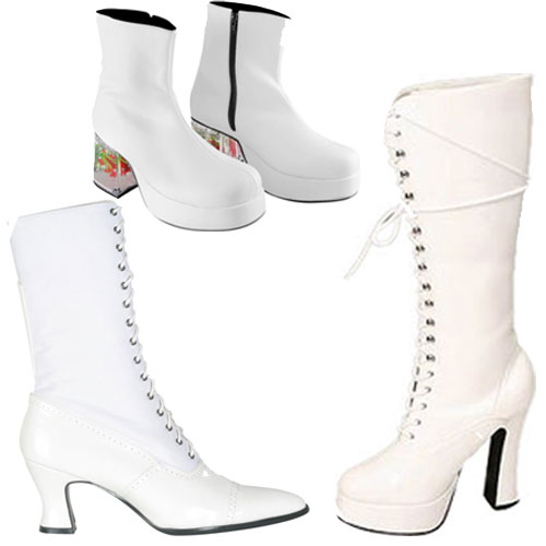 White Costume Boots