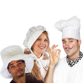 White Costume Hats