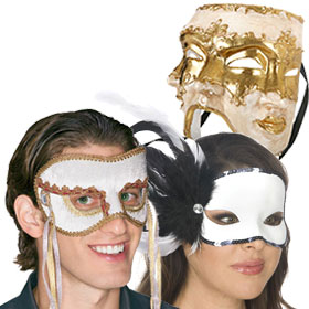 White Masquerade Masks