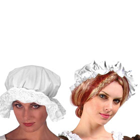 White Mop Hats