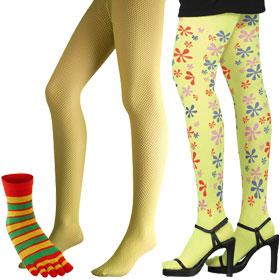 Yellow Costume Legwear