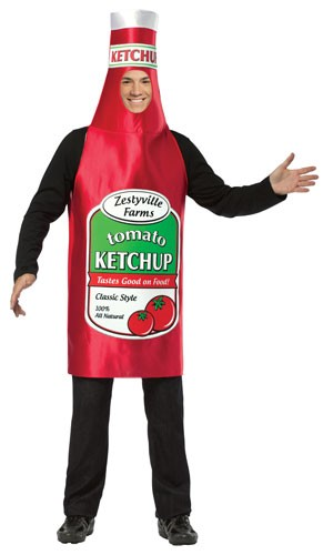 Zestyville Adult Ketchup Bottle Costume