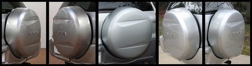 "1996-2013 Toyota RAV4 Spare Tire Cover Hard Cover Style Titanium Metallic Color Code 1D4 Fits 16"" Spare Swoosh Design"