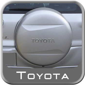 "1996-2013 Toyota RAV4 Spare Tire Cover Hard Cover Style Titanium Metallic Color Code 1D4 Fits 16"" Spare Genuine Toyota #64771-42060-B0"