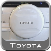 "1996-2013 Toyota RAV4 Spare Tire Cover Hard Cover Style White Pearl Color Code 064 Fits 16"" Spare Swoosh Design"