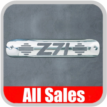 1999-2007 GMC Truck Third Brake Light Cover Polished Aluminum Finish w/ Z71 Cutout All Sales #94010P