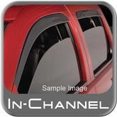 2000-2011 Dodge Charger Rain Guards / Wind Deflectors Ventvisor In-Channel 4-piece Set Dark Smoke Acrylic