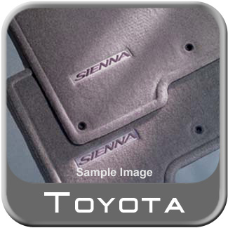 2002 2003 Toyota Sienna Carpeted Floor Mats Gray Symphony Package Edition