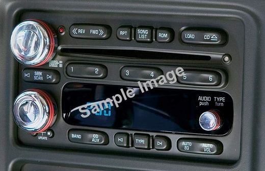 2002-2005 Dodge Ram Truck Radio Knobs Polished Billet Aluminum All Sales #AMIC-4416