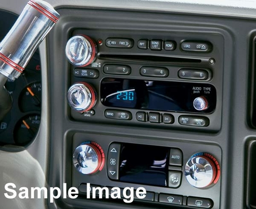 2003-2007 Chevy Tahoe Heater & A/C Knobs Billet Aluminum 2-piece Set All Sales #AMIC-9403