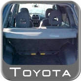 2004-2006 Toyota RAV4 Cargo Cover Rear Cargo Cover Fawn Color (Gray) Complete Kit