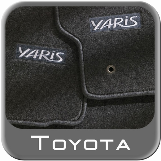 2006 2011 Toyota Yaris Carpeted Floor Mats Dark Charcoal