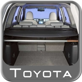 2006-2012 Toyota RAV4 Cargo Cover Retractable Rear Cargo Cover Black Vinyl w/Metal Rollup Casing