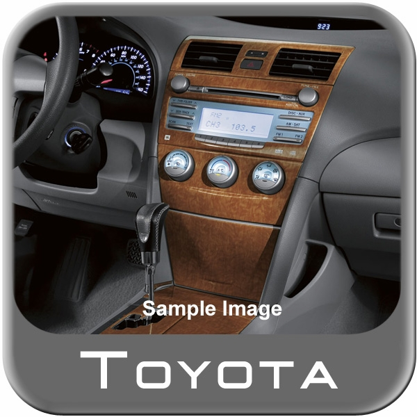 2008 2011 toyota camry wood dash kit simulated wood grain 4 pc kit. Black Bedroom Furniture Sets. Home Design Ideas