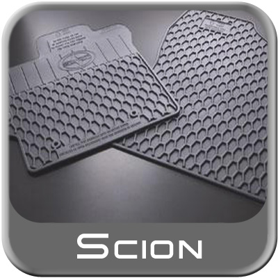Genuine Scion Rubber Floor Mats All Weather Charcoal Color