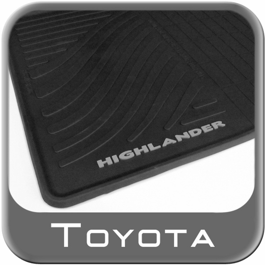 2008 2013 Toyota Highlander Rubber Floor Mats All Weather