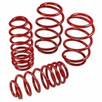 2009 (2009-2013) Toyota Corolla Lowering Springs 4 Piece Spring Set Powder Coated Red TRD Performance Suspension Genuine Toyota #PTR40-02080