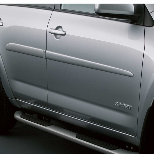 Toyota Sequoia Chromeline Painted Body Side Molding 2008: 2009-2012 Toyota RAV4 Body Side Moldings Pyrite Mica