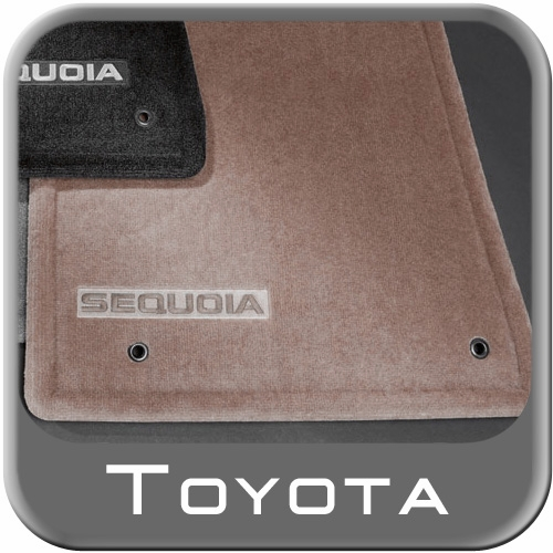 2012 2015 toyota sequoia rubber floor mats all weather 3rd row mat black
