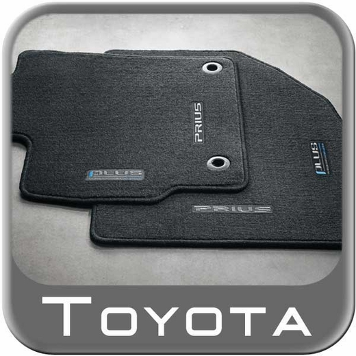 2012 2013 Toyota Prius Carpeted Floor Mats Black W Plus Logo