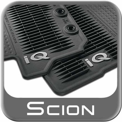 2012 2015 Scion Iq Rubber Floor Mats All Weather Charcoal