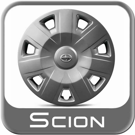 "2012-2015 Scion iQ Wheel Cover For 16"" Steel Wheels 7-Spoke Sold Individually Genuine Toyota #PT280-74101-SR"