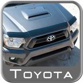 2012-2014 Toyota Tacoma Bug Deflector Smoke Color, Acrylic Complete Kit
