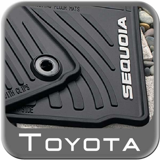 New 2012 2016 Toyota Sequoia Rubber Floor Mats From