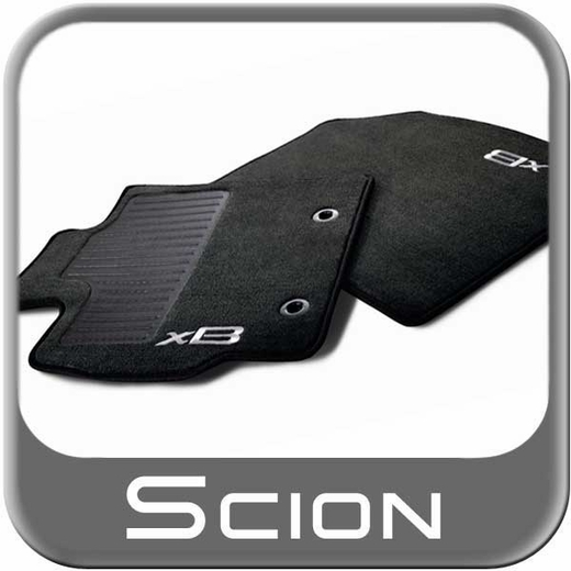 2013 2014 Scion Xb Carpeted Floor Mats Black W Silver Xb
