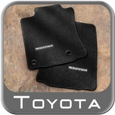 2013-2014 Toyota 4Runner Floor Mats Carpeted, 4-Piece Set Black